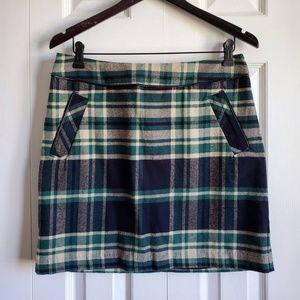 Tommy Hilfiger Green Plaid Mini Skirt